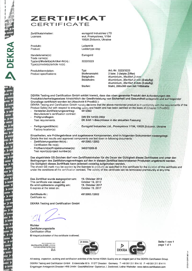Certyfikaty eurogold