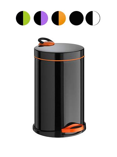 Kosz na śmieci Opera 14l Black Orange
